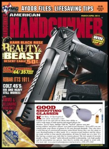 April 2014 issue of American Hangdunner, featuring Tactical Rx custom prescription lenses in the Randolph Engineering Concorde frame.